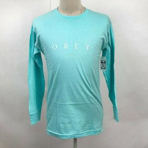 Obey Long Sleeve T-Shirt Novel Aqua Green